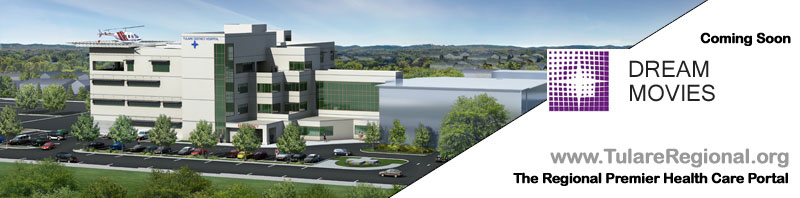 Full color rendering of Tulare District Hospital expansion.